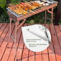 Spree-Barbecue BBQ Charcoal Grill BBQ Camping Grill Charcoal Grills Portable BBQ Stainless Steel Folding BBQ Camping Grill