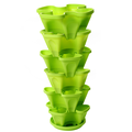 Stackable Planter, Strawberry Herb Garden Planter with Saucer