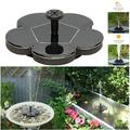 Solar Fountain Pump for Bird Bath, Mini Solar Water Fountain Pump for Pond, Patio Garden(Flower Shape)