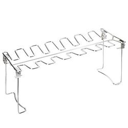 1PC Foldable BBQ Grill Rack Stainless Steel Drumsticks Grill Portable Outdoor Barbecue Rack Multi-purpose Barbecue Rack Practical Barbecue Accessories for Kitchen Park Camping Silver