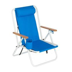 DABOOM Portable Beach Chair,Patio Folding Lightweight Camping Chair, Outdoor Garden Park Pool Side Lounge Chair, with Cup Holder