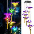 Solar Butterfly Wind Chimes, Color Changing Solar Wind Chime Outdoor Waterproof Butterfly LED Solar Lights, Gifts for Mom Grandma Birthday Night Party Yard Garden Hanging Decoration