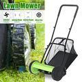 GuosArten Lawnmower Hand Push Lawn Mower Manual Reel Grass Catch Tool Manchine 5 Blades