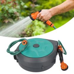 Zaqw Automatic Hose Reel,Hose Reel,Wall Mounted Automatic Retractable Garden Hose Reel with 15m Pipe for Garden Garage