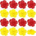 OIENS Hummingbird Feeders Replacement Flowers, Feeding Ports Replacement Bird Feeder Replacement Parts for Hummingbird Feeder Hanging Feeder (Red&Yellow,16 Pieces)