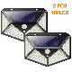 2 pieces of solar lamps for outside, 100 LED super bright solar lamp outside 800 lumens 3 modes solar wall lamp Waterproof solar outside lamp for garden