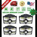Ielectr [2 Pack]40 Led Solar Power Lamp Outdoor Garden Pir Motion Sensor Wall Light Unique Reflector Cup Design