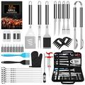 AISITIN 35PCS BBQ Accessories Grill Set, Grill Accessories BBQ Tools with Bag Stainless Steel BBQ Set Grill Utensils Set for Smoker Outdoor Camping Kitchen Barbecue BBQ Gifts for Men Women