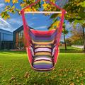 Promotion Clearance Portable Hammock Chair Canvas Bed Hammocks Garden Swing Hanging Leisure Lazy Rope Chair Swing Indoor Bedroom Seat Camping Rainbow
