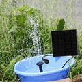 Kritne Solar Water Fountain,Landscape Solar Fountain,Solar Fountain DC Brushless Mini Water Pump for Landscape Pool Garden Decoration