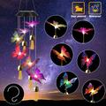Solar Wind Chime Outdoor,Wind Chime Clearance,Color Changing LED Mobile Butterfly Wind Chimes,Outdoor Romantic Decorative,6 Butterfly String Lights,for Home/Yard/Patio/Garden