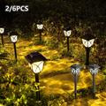 HOTBEST 2PCS Solar Pathway Lights Outdoor LED Stake Lamps Lawn Landscape Lights Patio Yard Walkway Lamp, Solar Garden Pathway Lights Outdoor LED Walkway Lights Decorative Lights