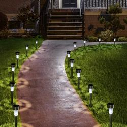 Solar Lights Outdoor, 12Pack Stainless Steel Outdoor Solar Lights - Waterproof, LED Landscape Lighting Solar Powered Outdoor Lights Solar Garden Lights for Pathway Walkway Patio Yard Lawn-Cool White