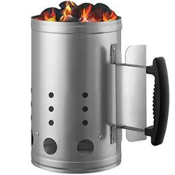 Charcoal Chimney Starter BBQ Grill Lighter Barbecue Fire Starter Grilling for BBQ Charcoal Grill Briquette Coal Fire Starter Chimney for Grills Outdoor Cooking Charcoal Can Accessories
