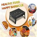 Charcoal Grill BBQ Steel Folding Grill Outdoor Smoke BBQ Folding Portable BBQ Grill Charcoal Barbecue Assemble Outdoor Camping
