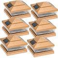 garden sun light solar 5 led post cap light for 6 x 6 pvc posts w/ 5 x 5 adapter 6 pack