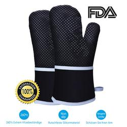 Oven Gloves Kitchen Gloves Heat Resistant Heat Resistant Anti-Slip BBQ Grill Grilling Fireplace