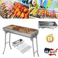 Charcoal Grill,Portable Barbecue Grill Folding BBQ Grill,Small Barbecue Grill,Outdoor Grill Tools for Camping Hiking Picnics Traveling