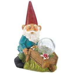 Summerfield Terrace 10018278 Gnome with Wheel Barrow Solar Statue, Multicolor, Nullify By Brand Summerfield Terrace