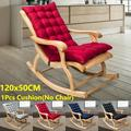 120x50CM 4 Pure Color Thickened Double-sided Sanding Chair Cushion Autumn and Winter Lunch Break Folding Chair Cushion Rocking Chair Cushion (NO Chairs)