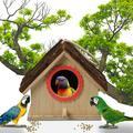 〖Follure〗Large Bird House Wood Wooden Hanging Standing Birdhouse Outdoor Garden Decor