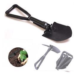 1PC Camping Shovel Folding Shovel Tactical Survival Shovel Tri-fold Garden Spade Shovel for Off Road, Camping, Gardening, Beach, Digging Dirt, Sand, Mud & Snow