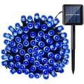 QiShi Solar String Lights 39ft 100 LED 8 Modes Outdoor String Lights Waterproof Fairy Lights for Garden, Patio, Fence, Balcony, Outdoors (Blue)