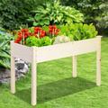 Raised Garden Bed Wooden Planter Flower Pot Box Outdoor Indoor 48.4x24.4x30in