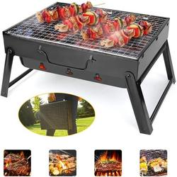 Barbecue Charcoal Grill Foldable BBQ Grill Charcoal Barbecue Smoker Grill Tabletop Stoves Grill