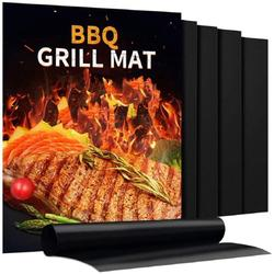 Grill Mat - Set of 4 Heavy Duty BBQ Grill Mats - Non Stick, Reusable, and Easy to Clean Barbecue Grilling Accessories