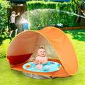 Lanhui Baby Beach Tent Pool,Portable Sun Shelter Waterproof Tent For Toddler, with Pool UPF 50+ UV Protection & Waterproof Sun Tent Beach Shade Baby Pool Tent for Toddler Aged 3-48 Months