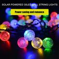 HERCHR 30 LED Outdoor String Lights Solar Powered Patio Lights Outside Hanging Globe Garden Easter Decorative Camping Bubble Lights Night Light LED Party Holiday Lights Lamp