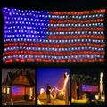 YLHHOME American Flag LED String Lights Outdoor Lights Waterproof Hanging Camping Vote Christmas