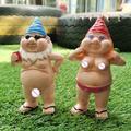 16cm Height Garden Gnome Statue, Outdoor garden Statue Garden Gnome Decorative Lawn Statue for Flower Pot