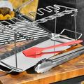 NORBI Portable BBQ Grill Non-stick Surface Folding Barbecue Grill Outdoor Camping Picnic Tool Stainless Steel BBQ Set