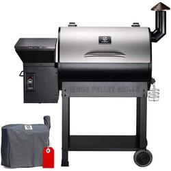 Z GRILLS ZPG-7002E 2020 Upgrade Wood Pellet Grill & Smoker, 8 in 1 BBQ Grill Auto Temperature Control, 700 inch Cooking Area, 500 sq