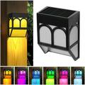 Midnight Solar Fence Lights Outdoor Wall Lights for Yard Wall Patio Front Door Stair Path6pc