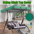 2 & 3 Person Patio Swing Seat Canopy, Rainproof Garden Chair Replacement Top Cover, All Weather Resistant Swing Seat Canopy, Suitable for Patio, Garden, Poolside, Balcony