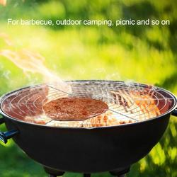 Tebru Barbecue Mesh,Round Shape BBQ Wire Mesh Grill Net Barbecue Grilled Grid Rack Outdoor Camping Picnic Tool, Barbecue Rack