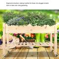 DOACT Garden Supplies,Elevated Planter,Wooden Raised Garden Bed Mobile Elevated Planter with Lockable Wheels Storage Shelf