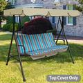 Outdoor Patio Garden Swing Chair Replacement Canopy Spare Fabric Sun Cover Waterproof,Anti-UV,And Not Fade 75x52x6inch