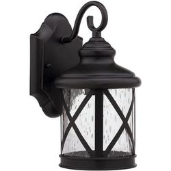 Lighting Lighting Milania Adora Transitional Wall-Mount 1-Light Outdoor Rubbed Bronze Sconce