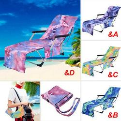 Beach Lounge Chair Cover Towel Quick Drying Sun Lounger Mate Holiday Garden