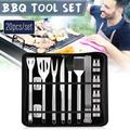 20Pcs BBQ Grill Tool Set, BBQ Tools, Grill Utensil Set with Storage Bag for Outdoor Barbecue Grilling