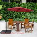 SEGMART Patio Umbrella, Outdoor Umbrella for Patio, 10 FT Outdoor Patio Umbrella with Cross Base, Heavy-Duty Patio Umbrella for Table, Umbrella for Outside/Patio, Easy to Adjust, Burgundy, H1904