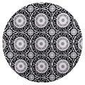 "GAD Premium Indoor Contemporary Bohemian Area Rug (6'7"" Round) Gray, White & Black Geometric Chic Boho Living Room Rug - Hallway, High Traffic Inside Rug - Stain & Fade Resistant"