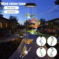 HOTBEST Color-Changing LED Solar Mobile Wind Chimes, Hanging Waterproof Butterfly Solar Powered LED Light Wind Chimes for Outdoor Indoor Home yard Garden Decoration Wind Chime LED Solar Wind Chime