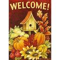 toland home garden fall birdhouse 12.5 x 18 inch decorative autumn harvest welcome double sided garden flag