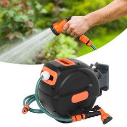 TMISHION Garden Hose Reel,Retractable Hose Reel,Automatic Retractable Garden Hose Reel Winding Tools with 20m Pipe for Watering Car Washing