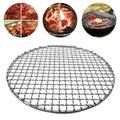 SYWAN Basket Grill,Stainless Steel Round BBQ Grill Baking Rack for Grilling Meat,Veggies, Cooking, Baking, Barbecue,Non-stick,Reusable